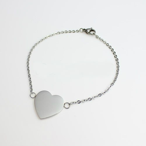 "Unique Photo / Text Engraved ""Aphrodite"" Heart Chain Bracelet"