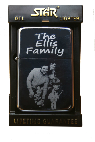 Unique Photo Engraved Star Lighter