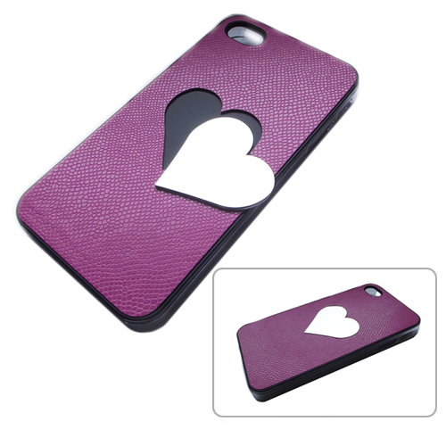 Unique Photo Engraved Heart iPhone 4 / 5 / 6 Case