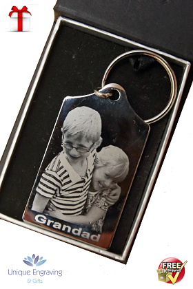 Unique Photo engraved Tapered Keyring
