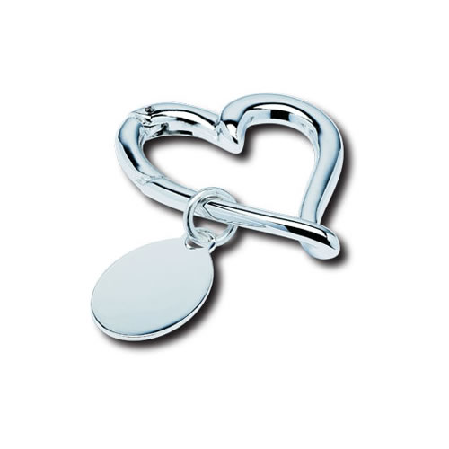 Unique Text Engraved Beating Heart Keyring