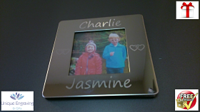 Unique Engraved Magnetic Fridge Photo Frame
