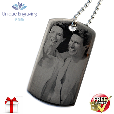 Unique Photo Engraved ID Tag