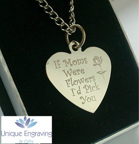 Unique Photo Engraved Heart Pendant