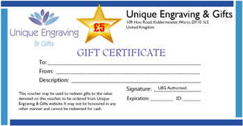 Gift Certificate £ 5.00