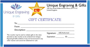 Gift Certificate £ 10.00